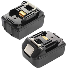 Picture of Vosarea Rechargeable Li-ion Batteries (18 V, 5 A, Tool) for Makita BL1830 BL1840 No Light 2 PCS (Black)