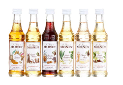 תמונה של 1 x Monin Mini Coffee Set 6X 5 cl Vanilla, Hazelnut, White Chocolate Macadamia Cookie