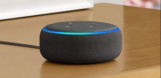 BerlinBuy. Echo Dot (3rd Gen) - Smart speaker with Alexa - Charcoal Fabric