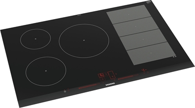 Изображение Siemens ex875lx34e built-in hob induction aluminum, black hob