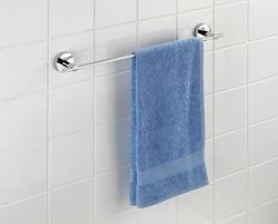 Изображение WENKO 22320100 Vacuum-Loc bath towel bar Uno Capri - fixing without drilling, zinc die-cast, 58.5 x 6 x 7 cm, chrome