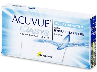 תמונה של עדשות מגע שבועיות Johnson & Johnson Acuvue Oasys for Astigmatism -with Hydraclear Plus