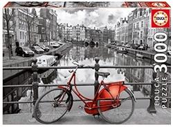 Изображение Educa Borras Puzzle Amsterdam Coloured Black and White (3000 Pieces)