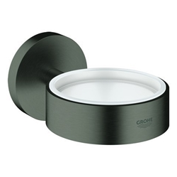 Picture of Grohe Essentials 40369 for Cup Soap Dish Holder/Dispenser Brushed Hard Graphite.