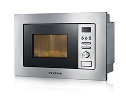 Picture of Severin MW 7880 microwave / 800 Watt / 20 liter capacity / brushed stainless steel black
