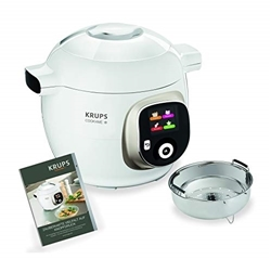 Picture of Krups Cook4Me + CZ7101 multi cooker (cooking under pressure for fast and fresh dishes, 6 liter capacity, 1.600 watts, incl. Recipe book) white / gray