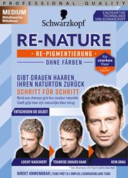 Изображение Schwarzkopf Re-Nature Re-pigmentation cream medium men medium blonde to medium brown, 1 pc