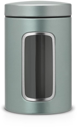 Picture of Brabantia storage jar with window (1.4 l) Metallic Mint