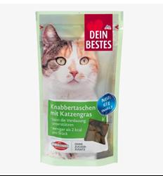 תמונה של חטיף לחתולים, שקיות חטיף עם עשב חתולים, 65 גרם