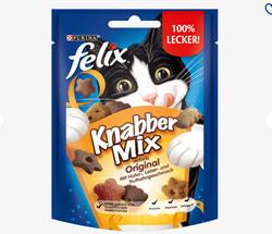 תמונה של חטיף לחתולים, KnabberMix Original, 40 גרם