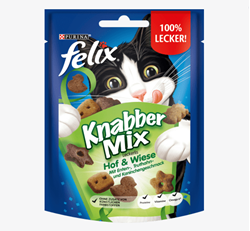 תמונה של חטיף לחתולים, KnabberMix Hof & Wiese, 40 גרם