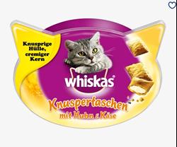תמונה של חטיף לחתולים, שקיות פריכות עם עוף וגבינה, 60 גרם