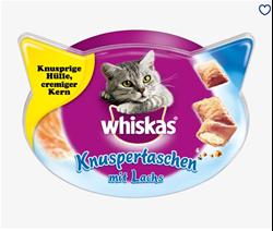 תמונה של חטיף לחתולים, שקיות פריכות עם סלמון, 60 גרם