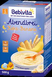 Picture of Bebivita Milk porridge evening porridge biscuit banana after the 4th month, 500 g
