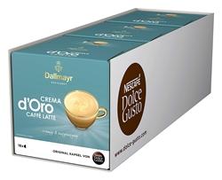 Изображение NESCAFÉ Dolce Gusto Dallmayr Crema d'Oro Caffè Latte (48 coffee capsules, 48 drinks, creamy & balanced) 3-pack (3 x 16 capsules)