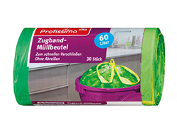 Изображение Profissimo Garbage bags with drawstring 60 l, 30 pcs