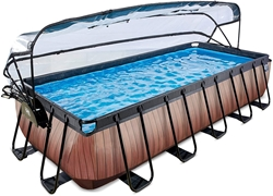 Picture of Exit Pool Wood 540 x 250cm with cover and sand filter pump