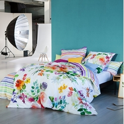 Picture of Estella Mako-Satin bed linen Flower Power multicolor 80x80 cm /135x200 cm-