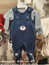 Изображение Baby Outfit (Blue)- 2 pieces, Organic Cotton