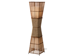 Picture of Floor lamp Bamboo I Woven fabric / bamboo braid - 2 lights
